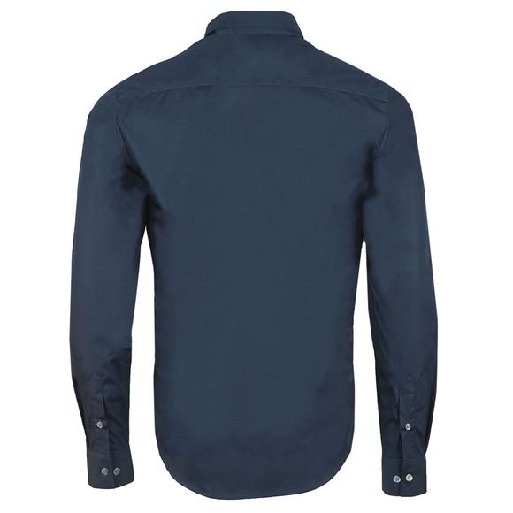 Emporio Armani Mens Blue 6G1C65 Plain Shirt main image