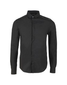 Emporio Armani Mens Black 6G1C65 Plain Shirt