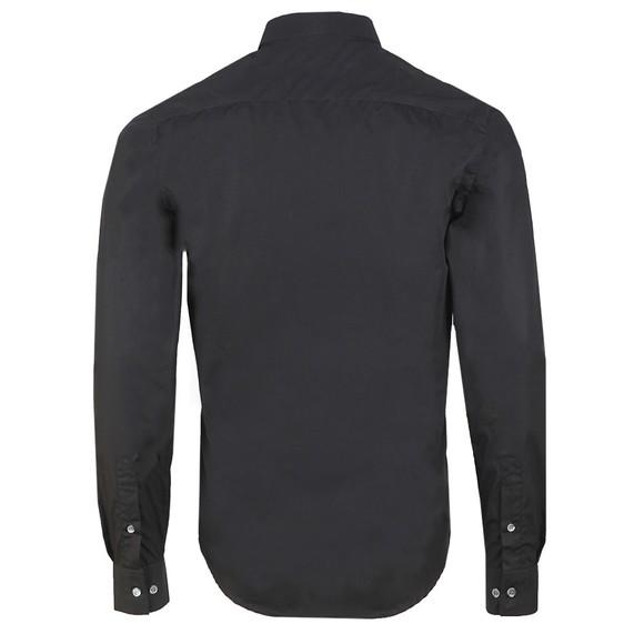 Emporio Armani Mens Black 6G1C65 Plain Shirt main image