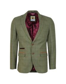 Marc Darcy Mens Green Ellis Check Blazer