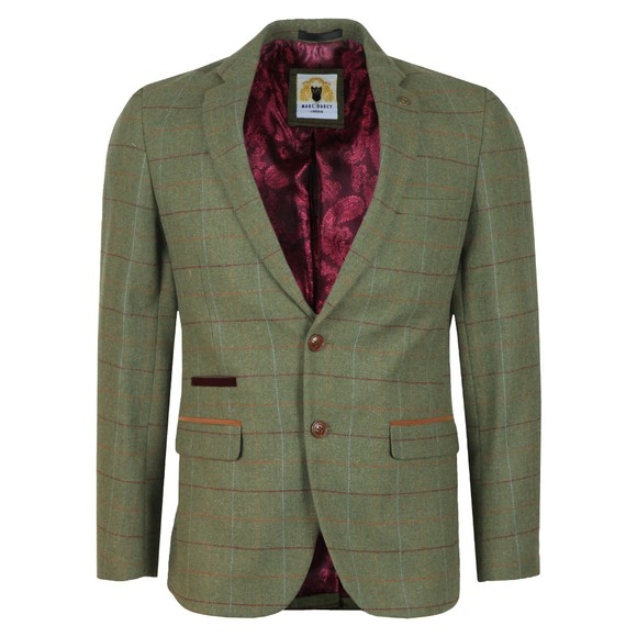 Marc Darcy Mens Green Ellis Check Blazer