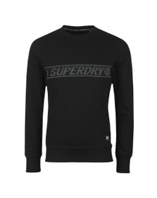 Superdry Mens Black Universal Tape Crew Sweatshirt