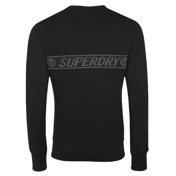 Superdry Mens Black Universal Tape Crew Sweatshirt main image