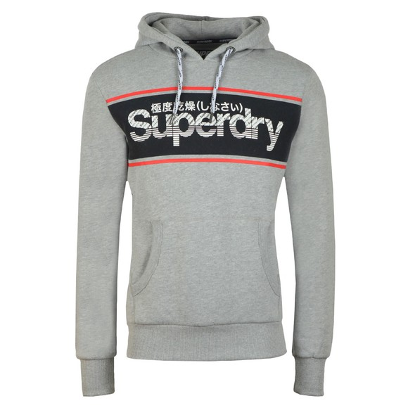 Superdry Mens Grey Retro Sport Hoodie main image