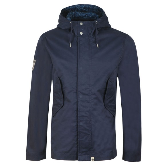 Pretty Green Mens Blue Cotton Zip Up Hooded Jacket