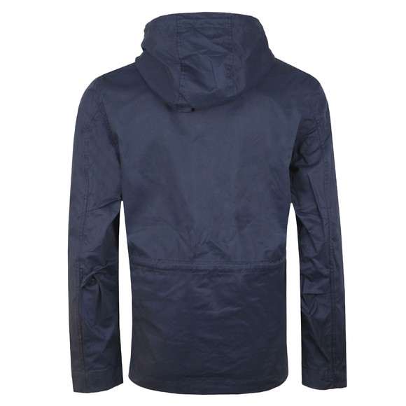 Pretty Green Mens Blue Cotton Zip Up Hooded Jacket main image