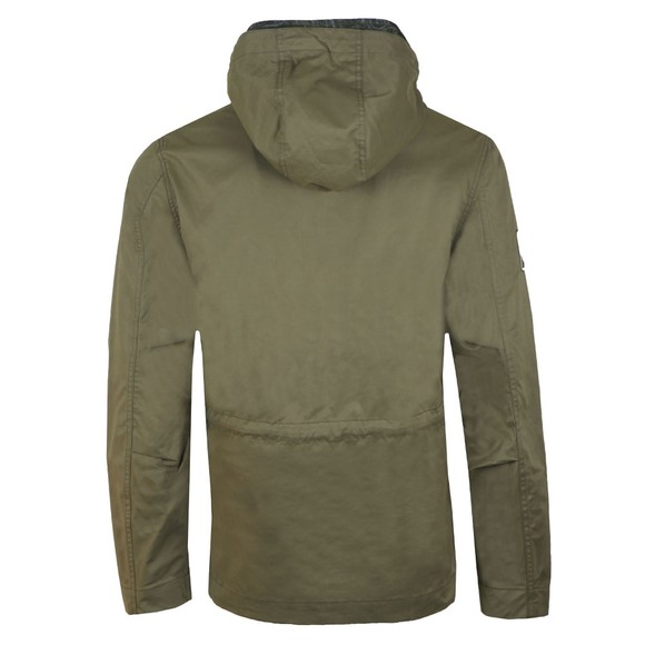 Pretty Green Mens Green Cotton Zip Up Hooded Jacket main image
