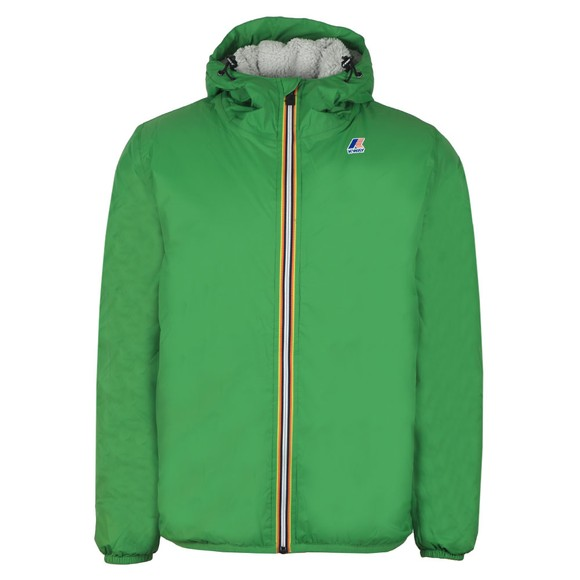 K-Way Mens Green Le Vrai Claude Orsetto Fleece Lined Jacket