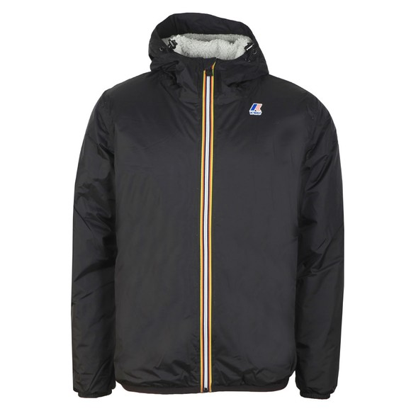 K-Way Mens Black Le Vrai Claude Orsetto Fleece Lined Jacket main image