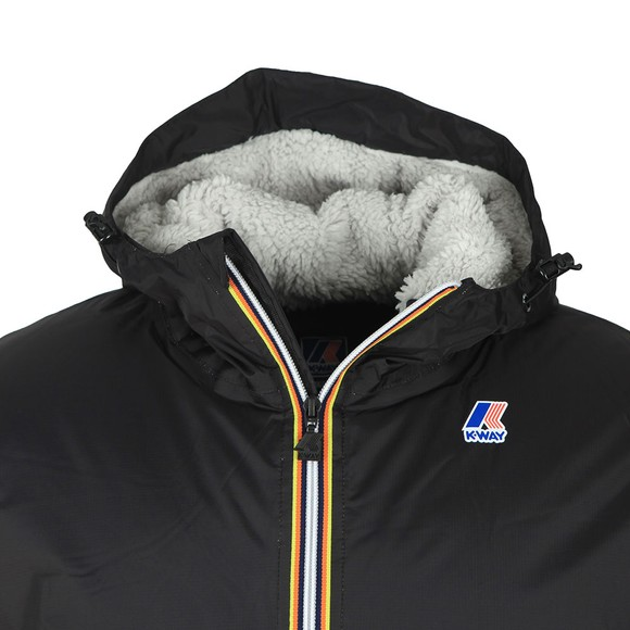 K-Way Mens Black Le Vrai Claude Orsetto Fleece Lined Jacket main image