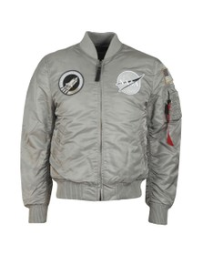 Alpha Industries Mens Silver MA-1 Nasa Jacket