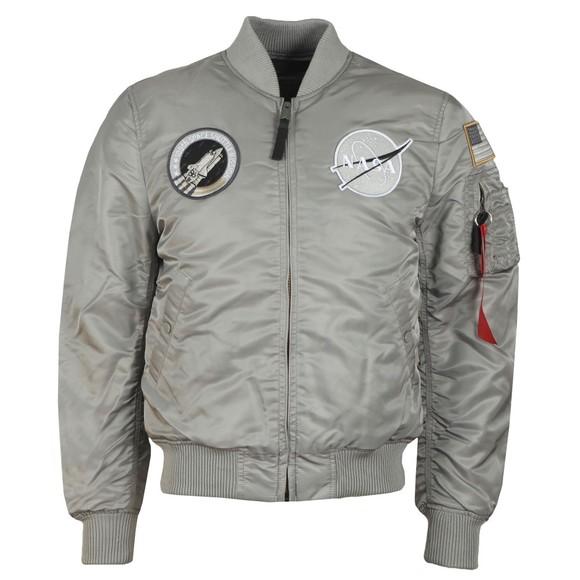 Alpha Industries Mens Silver MA-1 Nasa Jacket