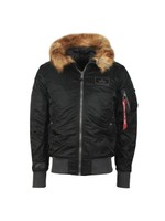 MA-1 Hooded Fur Jacket