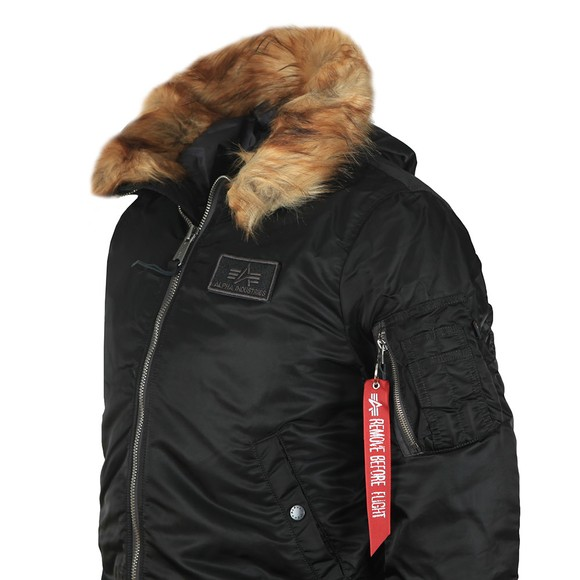 Alpha Industries Mens Black MA-1 Hooded Fur Jacket main image