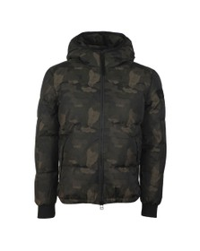 True Religion Mens Grey Camouflage Down Jacket