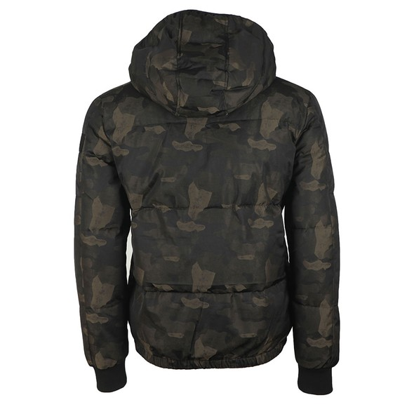 True Religion Mens Grey Camouflage Down Jacket main image