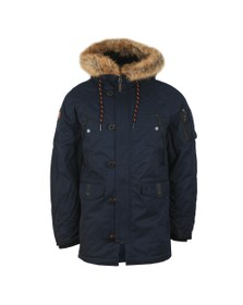 Superdry Mens Blue SDX Parka Jacket
