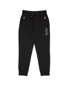 BOSS Bodywear Mens Black Gold Logo Jogger