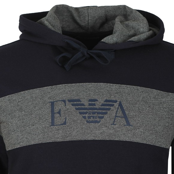 Emporio Armani Mens Blue Loungewear Hooded Tracksuit main image