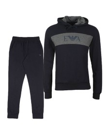 Emporio Armani Mens Blue Loungewear Hooded Tracksuit