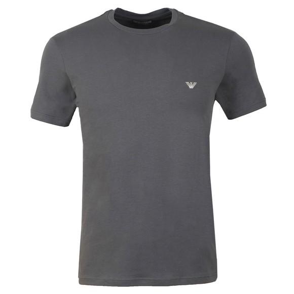 Emporio Armani Mens Grey Stretch Small Logo Crew Neck T-Shirt main image