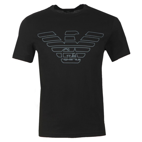 Emporio Armani Mens Black Large Eagle Logo T-Shirt main image