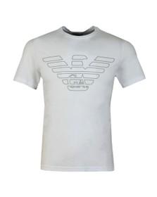Emporio Armani Mens White Large Eagle Logo T-Shirt