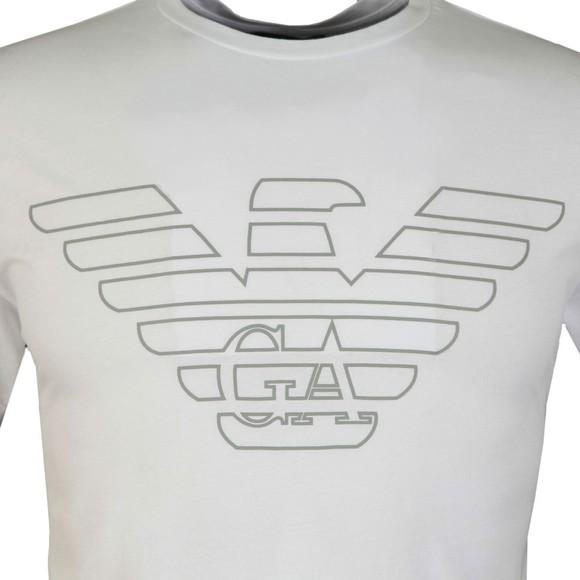 Emporio Armani Mens White Large Eagle Logo T-Shirt main image