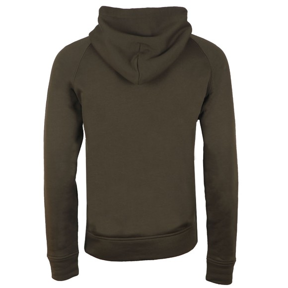 Emporio Armani Mens Green Overhead Large Logo Hoody main image