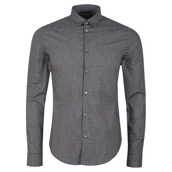 Emporio Armani Mens Blue Camacia Long Sleeved Shirt main image