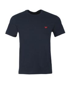 Emporio Armani Mens Blue Stretch Crew Neck T Shirt