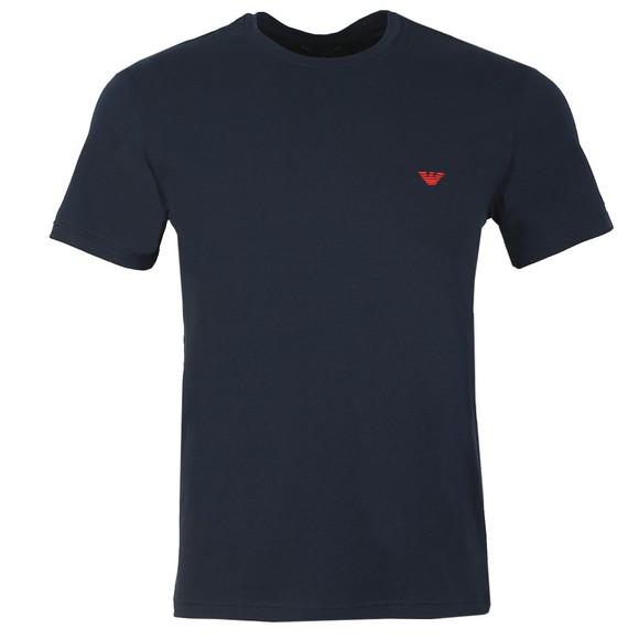 Emporio Armani Mens Blue Stretch Crew Neck T Shirt main image