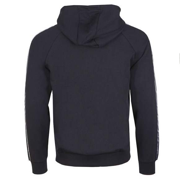 Emporio Armani Mens Blue Gold Tape Logo Hoody main image