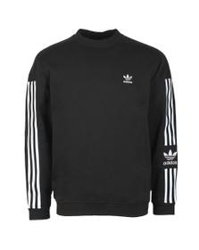 adidas Originals Mens Black Tech Crew Sweatshirt