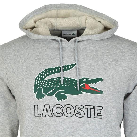 Lacoste Mens Grey SH6342 Logo Hoody