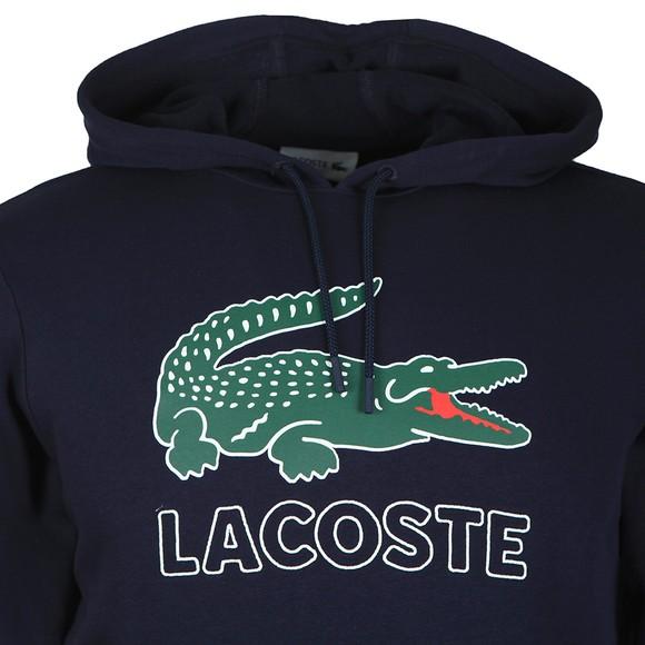 Lacoste Mens Blue SH6342 Logo Hoody main image