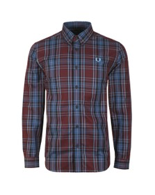 Fred Perry Mens Brown Winter Tartan Shirt