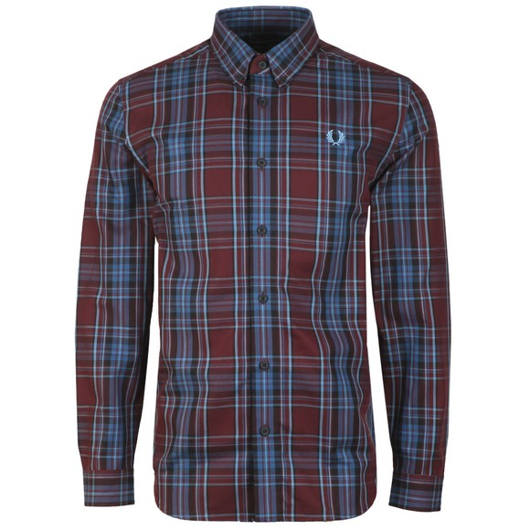 Fred Perry Mens Purple Winter Tartan Shirt main image