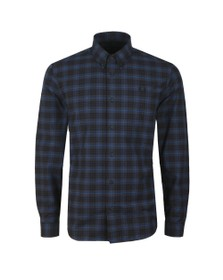 Fred Perry Mens Blue Tartan Shirt