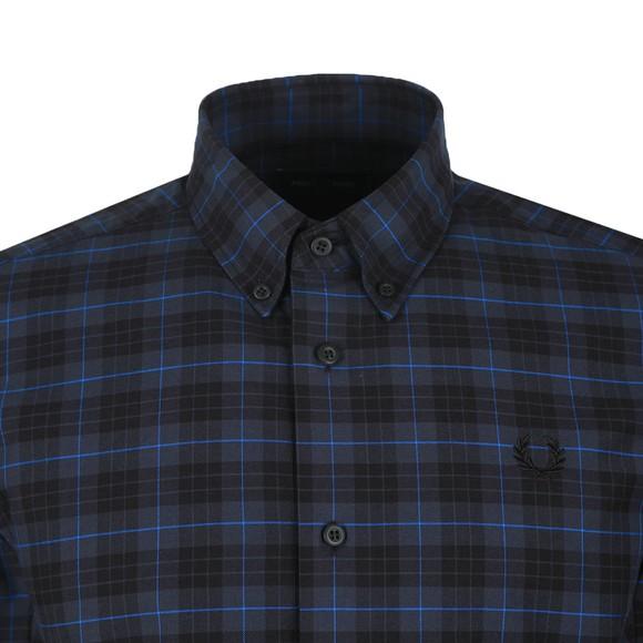 Fred Perry Mens Blue Tartan Shirt main image