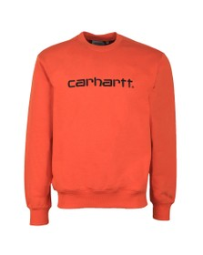 Carhartt WIP Mens Brick Orange Sweatshirt