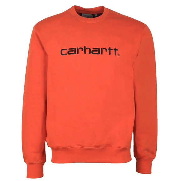 Carhartt WIP Mens Brick Orange Sweatshirt main image