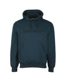 Carhartt WIP Mens Duck Blue Hooded Sweat