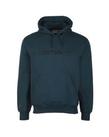 Carhartt WIP Mens Duck Blue Hooded Sweatshirt
