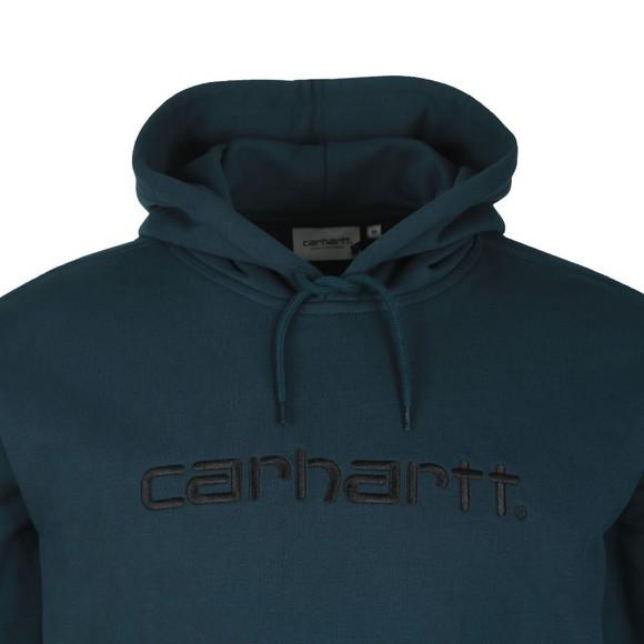 Carhartt WIP Mens Duck Blue Hooded Sweatshirt main image
