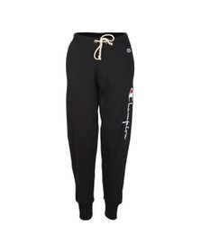 Champion Reverse Weave Womens Black Large Side Logo Jogger