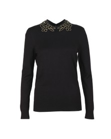 Ted Baker Womens Black Azaleo Embellishment Detail Jumper