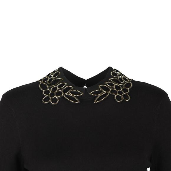 Ted Baker Womens Black Azaleo Embellishment Detail Jumper main image