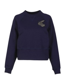 Vivienne Westwood Anglomania Womens Blue Badge Sweatshirt