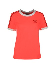 adidas Originals Womens Red 3 Stripes T-Shirt